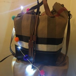 New like Burberry large tote bag with bear